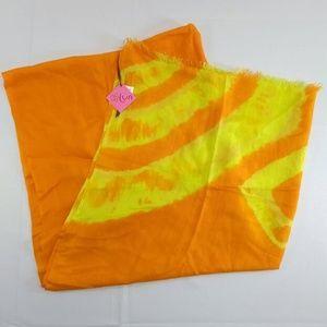 New Lua Scarf Wrap Shawl Orange Yellow Oblong 76x3